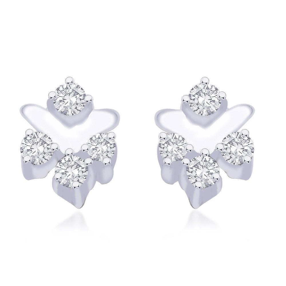 56d001aa1 925 Sterling Silver CZ Earrings for Women JOCER2022R