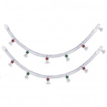 Floral 925 Sterling Silver Anklet For Women JOCAN0848S