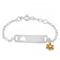 925 Sterling Silver ID bracelet for kids BR1227S JOCBR1227S