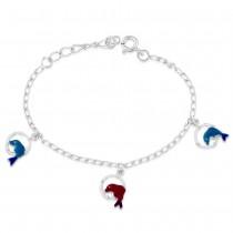 925 Sterling Silver Dolphin Design kids bracelet BR1230S JOCBR1230S