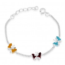 925 Sterling Silver Butterfly Design bracelet for kids BR1234S JOCBR1234S