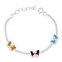 925 Sterling Silver Butterfly Design bracelet for kids BR1234S JOCBR1234S