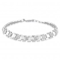 925 Sterling Silver Chain-Style Link Bracelet For Men BR1304R JOCBR1304R