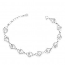 925 sterling silver Heart Bracelet for Women BR1356R JOCBR1356R
