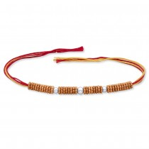 925 Sterling Silver Beaded Thred Rakhi for Brother JOCBRR0306S