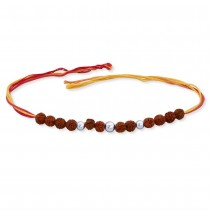 925 Sterling Silver Rudraksha Thred Rakhi JOCBRR0308S