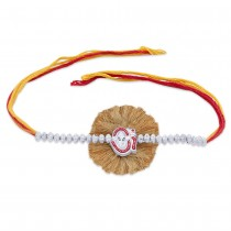 925 sterling Silver Om with Ganpati Thread Rakhi JOCBRR0328S