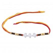 925 sterling Silver Lord Ganpati Thread Rakhi JOCBRR0340S