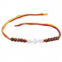 925 sterling Silver Swastik with Om Thread Rakhi JOCBRR0345S