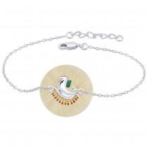 925 Sterling Silver Ganpati Bracelet Rakhi with Enamel JOCBRR0349S