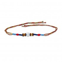 925 Sterling Silver One Ball with Wooden Beads Thread Rakhi JOCBRR0389S