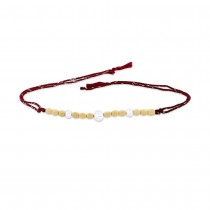 925 Sterling Silver three Balls with Wooden Beads Thread Rakhi JOCBRR0407S