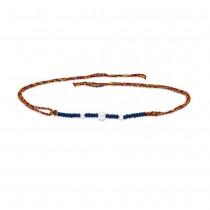 925 Sterling Silver Blue Beaded Thread Rakhi JOCBRR0408S