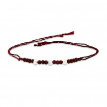925 Sterling Silver three Balls with Wooden Beads Thread Rakhi JOCBRR0409S