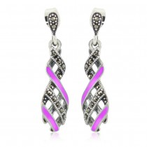 Xcite Light Purple Color Enamel Fancy Look Drop Dangle Earrings for Womens JOCBYER052P