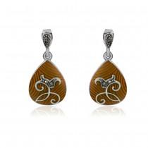 Xcite Pear Drop Shape Yellow Enamel Earrings For Women JOCBYER053Y