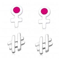 925 Sterling Silver Combo Set of Stud Earrings for Kids JOCCBER134136-02
