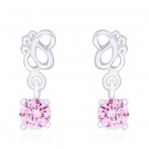 925 Sterling Silver Pink CZ Drop Earrings for Women JOCCBER240I-08
