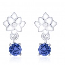 925 Sterling Silver floral Design CZ Drop Earrings for Women JOCCBER240I-12