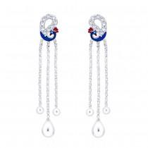 925 sterling silver Designer Peacock Drop Earrings for Women JOCCBER266I-06