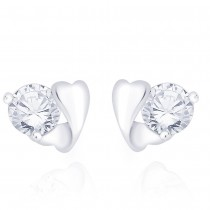 925 Sterling Silver CZ Heart Stud Earrings for Women JOCCBER267I-01