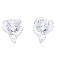 925 Sterling Silver CZ Abstract Design Stud Earrings jewellery for Women JOCCBER267I-07