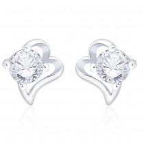 925 Sterling Silver CZ Heart Stud Earrings for Her JOCCBER267I-08