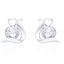 925 sterling silver Studded Heart Earrings for Girls JOCCBER267I-10