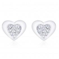 925 Sterling Silver CZ Double Heart earrings for her JOCCBER271I-06