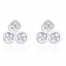 925 Sterling Silver CZ Floral earrings for girls & Women 0 JOCCBER271I-08