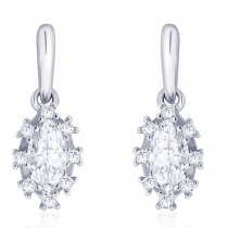 925 Sterling silver CZ Marquise Shape Design Drop earrings for Women JOCCBER273I-05