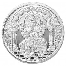 Traditional Ganesh With Om 999 Purity 10 Gram Silver Coin JOCCOIN-GNO10G
