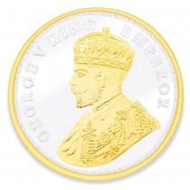 "999 Silver ""Gorge V King Emperor"" 50 gm Gnana Jamuna Coin JOCCOIN-GVKG50G"