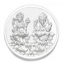 999 Silver Lakshmiji With Ganesha 10 Gram Coin JOCCOIN-LXGN10G