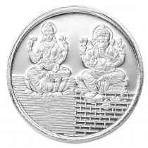 999 Silver Lakshmiji With Ganesha 10 Gram Coin JOCCOIN-LXGNS10G