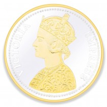 Gold Plated 999 Silver Victoria Empress 100 Gram Coin JOCCOIN-VG100G