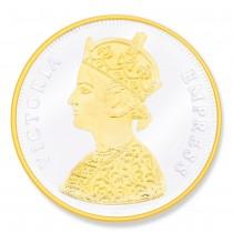 Gold Plated 999 Silver Victoria Empress 20 Gram Coin JOCCOIN-VG20G