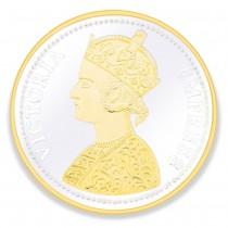 "Gold Plated 999 Silver ""Victoria Empress JOCCOIN-VG 50G"