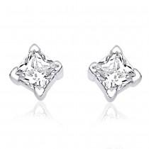 Sterling-Silver Stud Earring For Women Silver JOCER0313S6