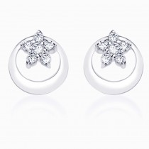 Sterling-Silver Stud Earring For Women (Silver) JOCER1748R