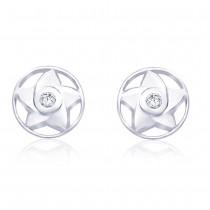 Sterling-Silver Stud Earring For Women Silver JOCER1755R