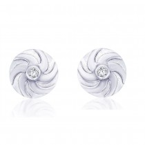 Sterling-Silver Stud Earring For Women (Silver) JOCER1761R