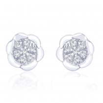 925 Sterling Silver Stud Earring For Women Silver JOCER1763R