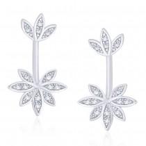 925 Sterling Silver Floral Shape Ear Cuff JOCER2635R