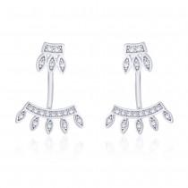 925 Sterling Silver Crown Shape Ear Cuff JOCER2638R