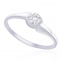 Classic Sterling Silver CZ Finger Ring For Women JOCFR1155R6
