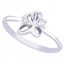 White CZ 925 Sterling Silver Finger Ring For Women JOCFR1266R6