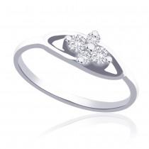 925 Silver CZ Promise Finger Ring For Girl's JOCFR1267R6