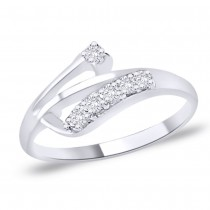 White CZ 925 Sterling Silver Finger Ring For Women JOCFR1273R6