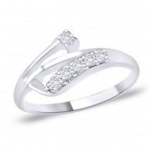 White CZ 925 Sterling Silver Finger Ring For Women JOCFR1273R6